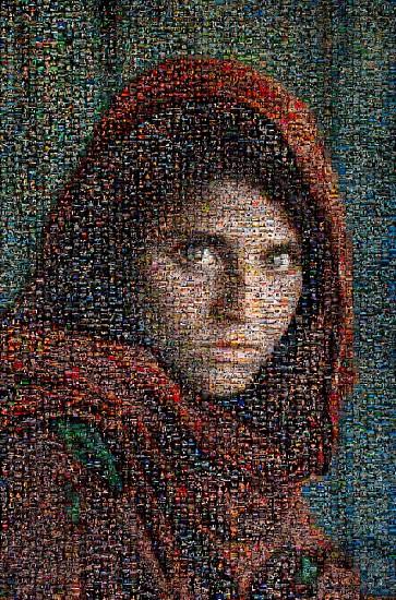 Steve McCurry, Afghan Girl Mosaic 2010, FujiFlex Crystal Archive Print