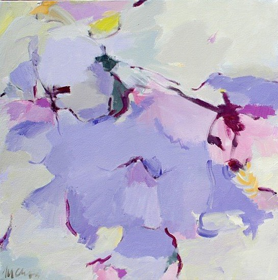 Maureen Chatfield, Blue Clematis 2015, oil on canvas