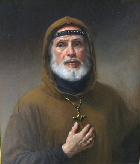 Michael Aviano, The Monk King II oil on canvas