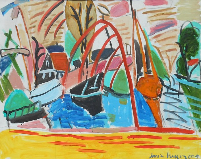 Jason Berger, Boatyard, Edam, Holland 2005, oil on canvas