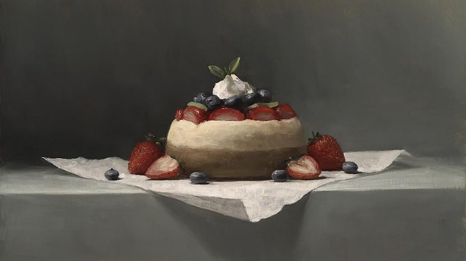 Sarah Lamb, Petite Cheesecake 2015, oil on linen