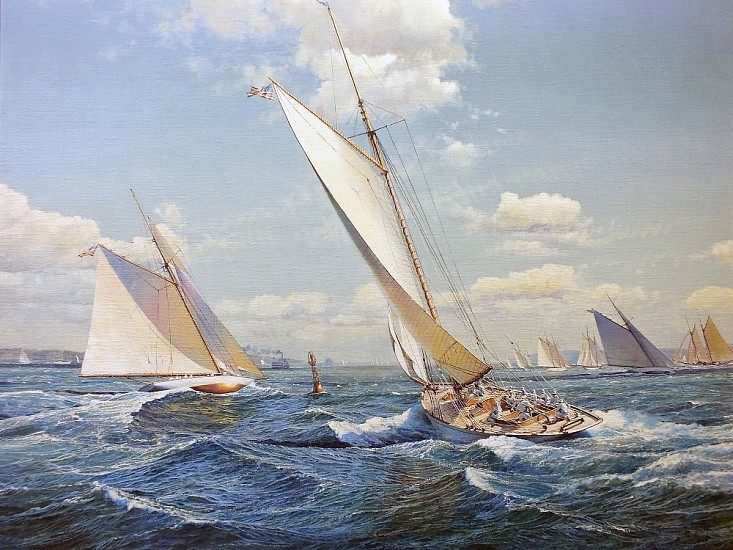 Maarten Platje, Wasp in Pursuit of Colonia oil on canvas