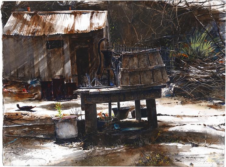 Stephen Scott Young, Miss Ruby's: Daufuskie Island 2005/10, Drybrush watercolor on Twinrocker handmade paper