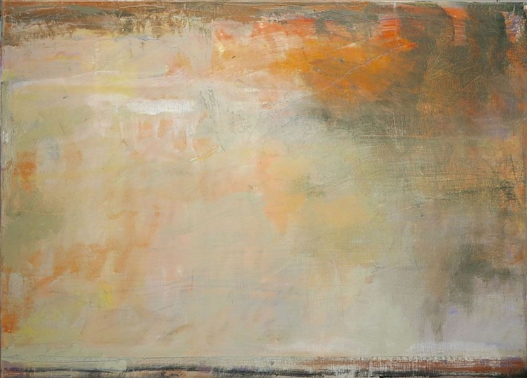 Ira Barkoff, Sky Over Fields 2015, oil on canvas