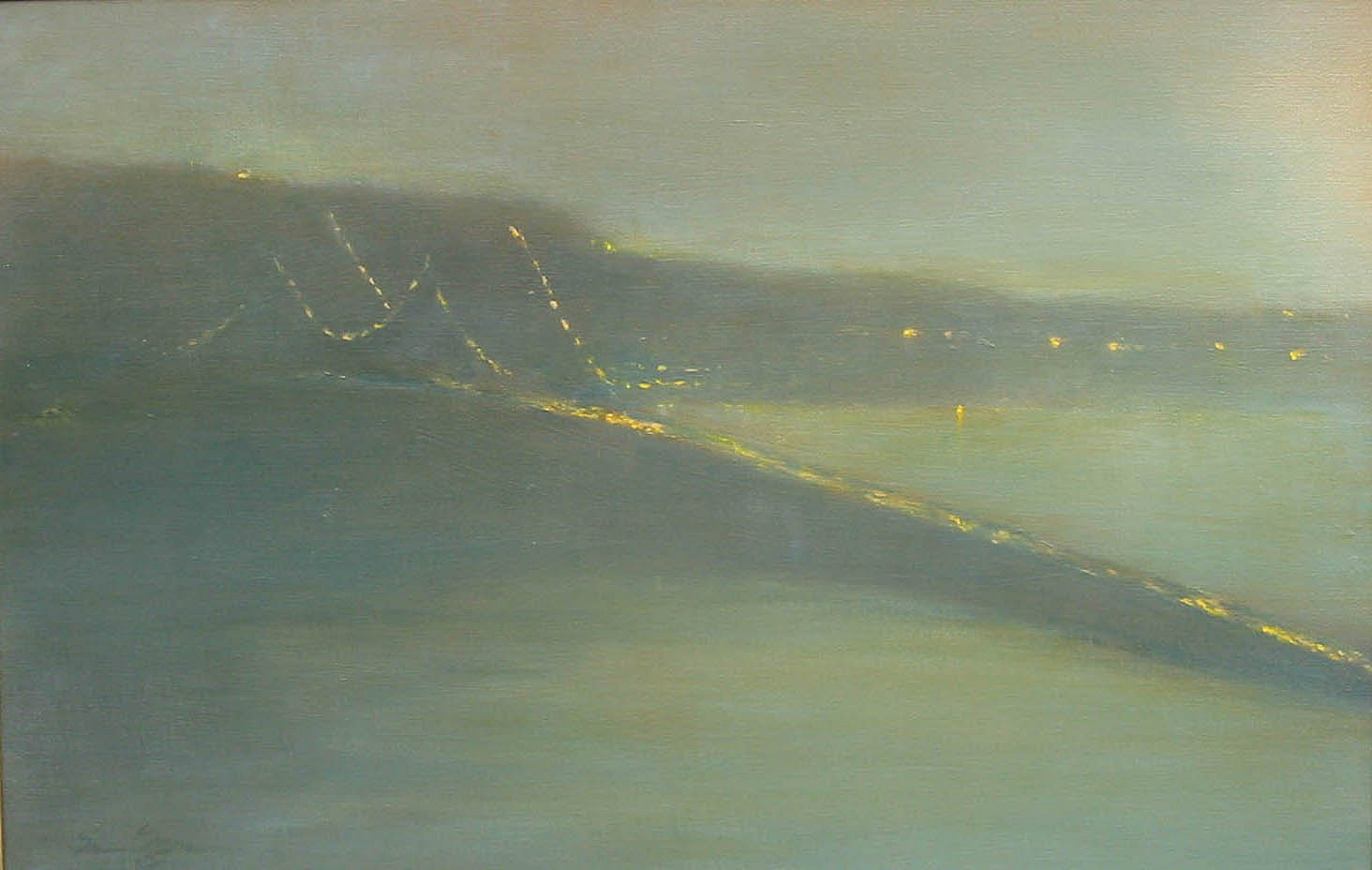 Nina Maguire, Bridge Nocturne V (Tappan Zee) 2006, acrylic on canvas