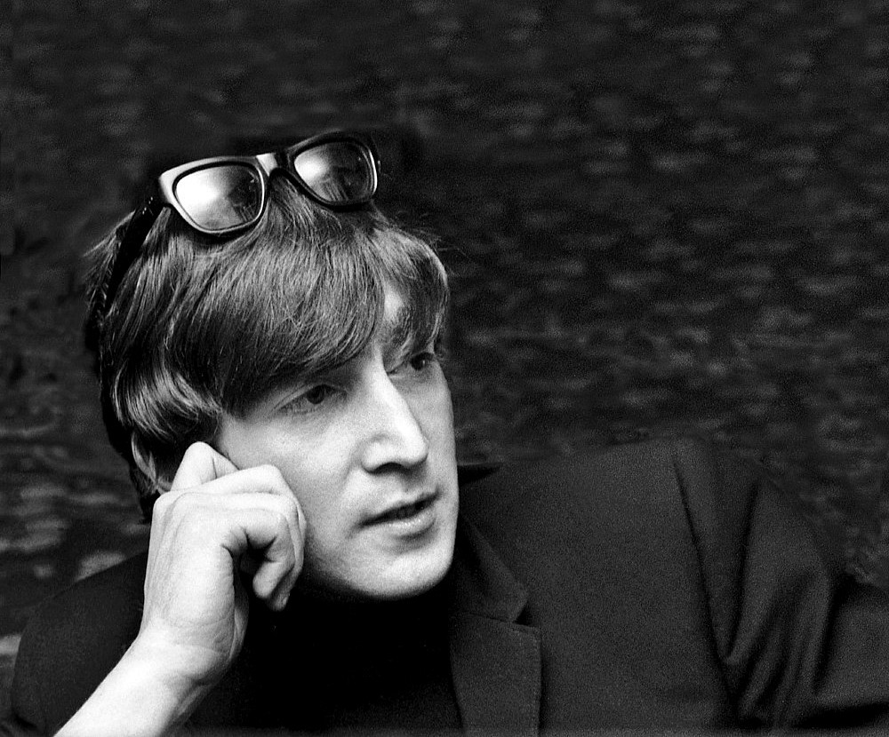 Harry Benson ,   John Lennon portrait, Editions of 35  ,  1964     archival pigment print ,  30 x 40 in. (76.2 x 101.6 cm)     HB151102