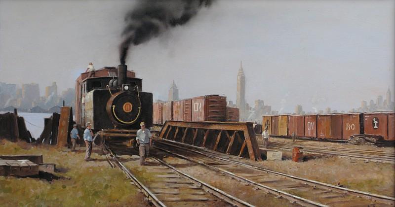 Nicholas Berger, Men Working 2011, oil on panel