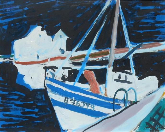 Jason Berger, Night Boat, Tavira 2007, oil on canvas