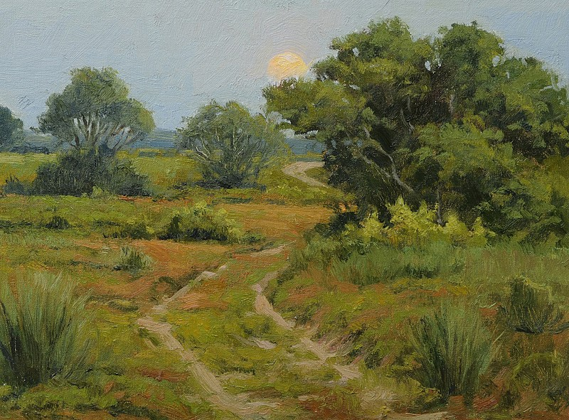 Frank Corso ,   Road Less Traveled  ,  2011     oil on canvas board ,  12 x 16 in. (30.5 x 40.6 cm)     FC110806