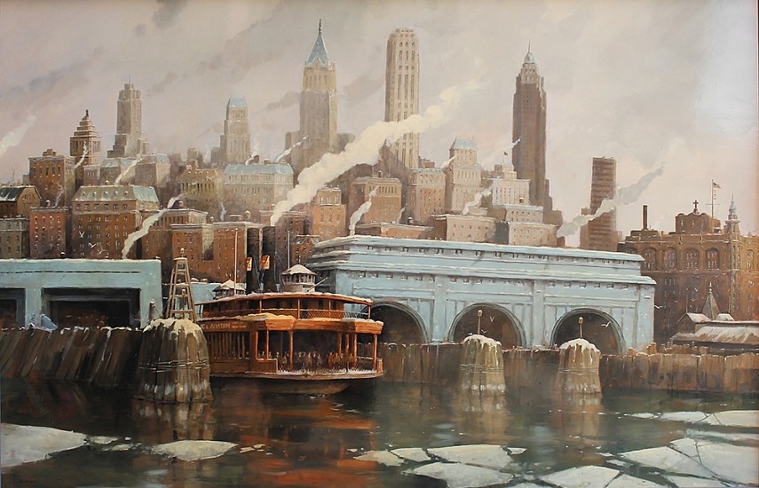 Nicholas Berger, Winter Crossing 2013, oil on panel