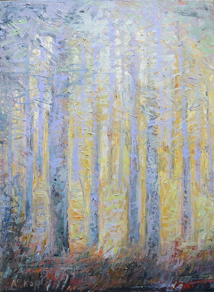 Ira Barkoff ,   Forest Series, Dawn  ,  2016     oil on canvas ,  40 x 30 in. (101.6 x 76.2 cm)     IB160402