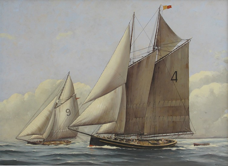 Nicholas Berger, Pilot Boat Adams No. 4 2012, oil on board