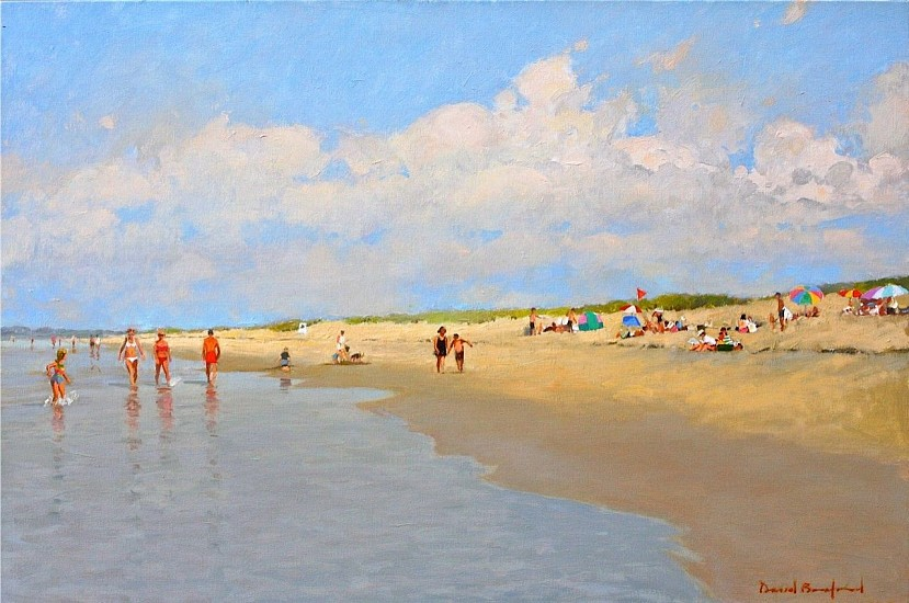 David Bareford, Beach Time 2016, oil on canvas