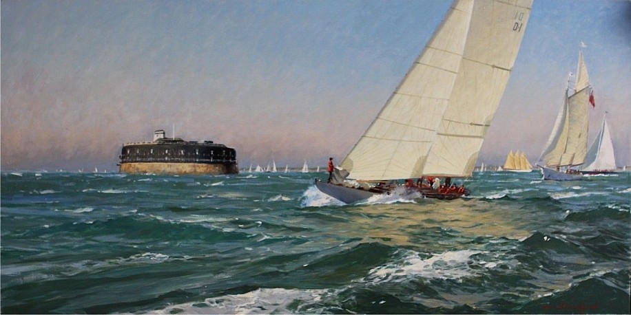 David Bareford, America's Cup Jubilee Celebration 2016, oil on canvas