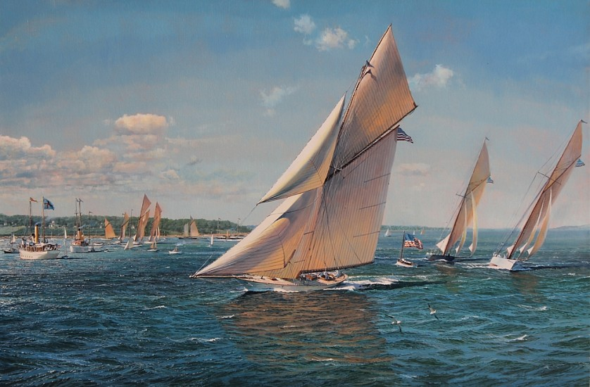 Maarten Platje, The Glorious Gloriana oil on canvas