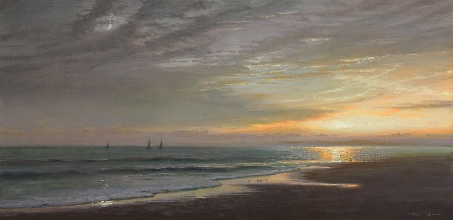 Thomas Kegler, Evening Sail, Eccleciastes 4:6 2016, oil on linen