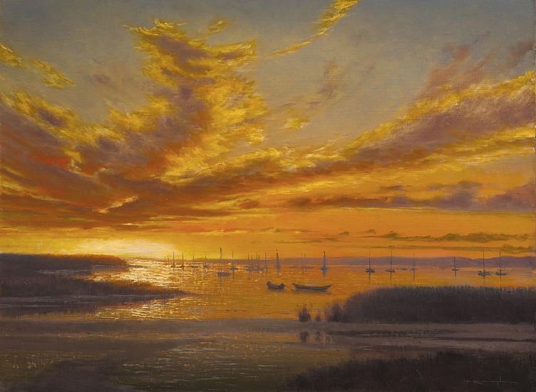 Thomas Kegler, Harbor Twilight, Proverbs 3:24 2016, oil on linen