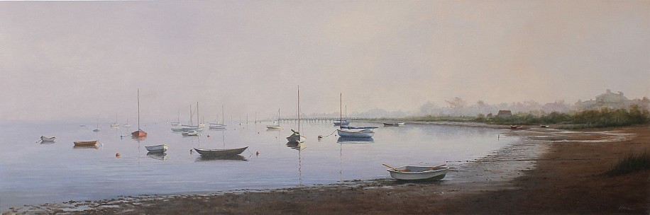 Marla Korr, Monomoy 2016, oil on linen