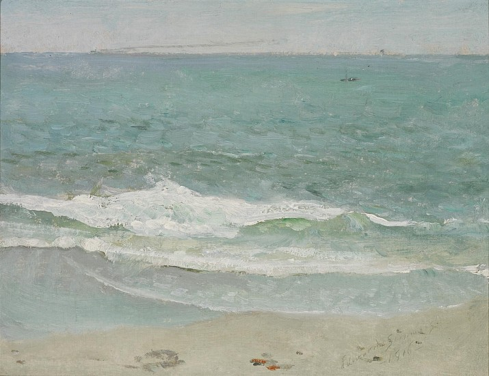 Edward Emerson Simmons, Sconset Beach, Nantucket 1916, oil on canvas board