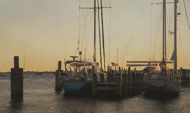 Li Xiao, South Wharf Sunrise 2013, oil on canvas