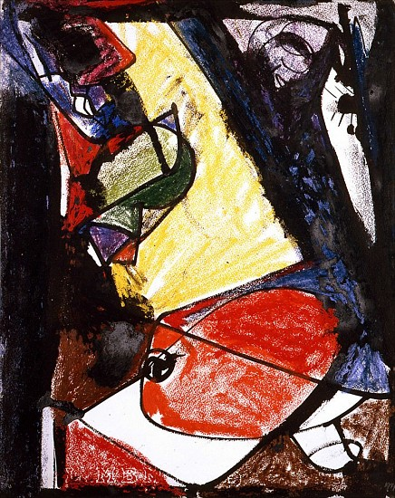 Hans Hofmann, Untitled 1948, crayon and ink on paper