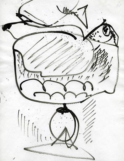 Hans Hofmann, Untitled c. 1939, india ink on paper