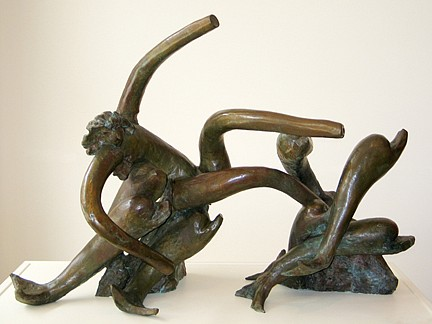 Reuben Nakian, Nymph and Seven Dolphins ed. 6/9 1986, bronze