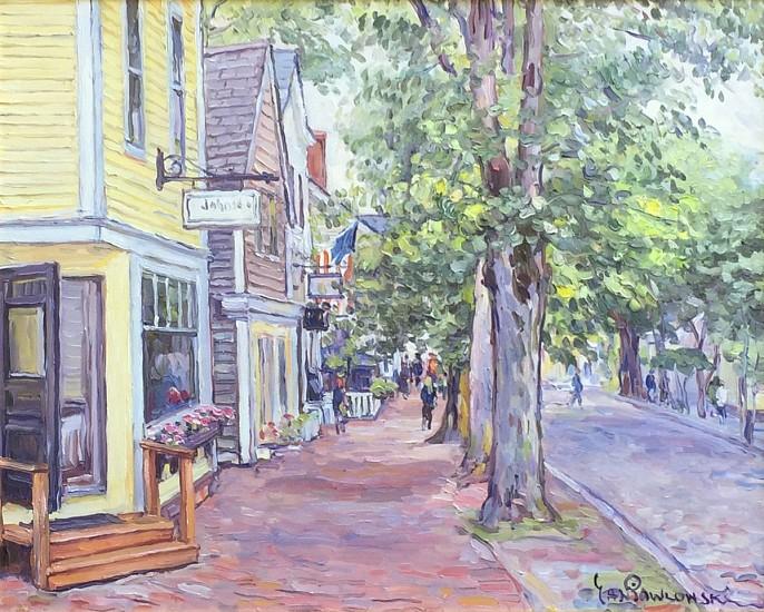 Jan Pawlowski, Federal Street, Nanntucket 2016, oil on canvas
