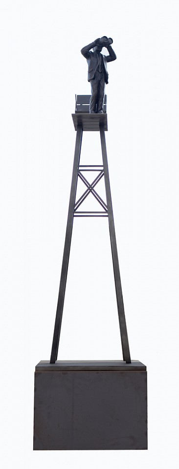 Jim Rennert ,   Outlook (large), Edition of 3  ,  2016     bronze and steel ,  116 x 27 x 30 in. (294.6 x 68.6 x 76.2 cm)     Edition of 3     JR160401