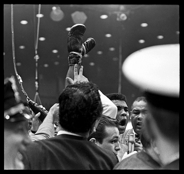 Harry Benson ,   Ali - Liston Fight, Miami, 1964, Edition of 35  ,  1964     archival pigment print ,  24 x 30 in. (61 x 76.2 cm)     HB150603