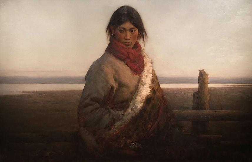 Zhang Li, Peasant Shepherd Girl 2002, oil on canvas