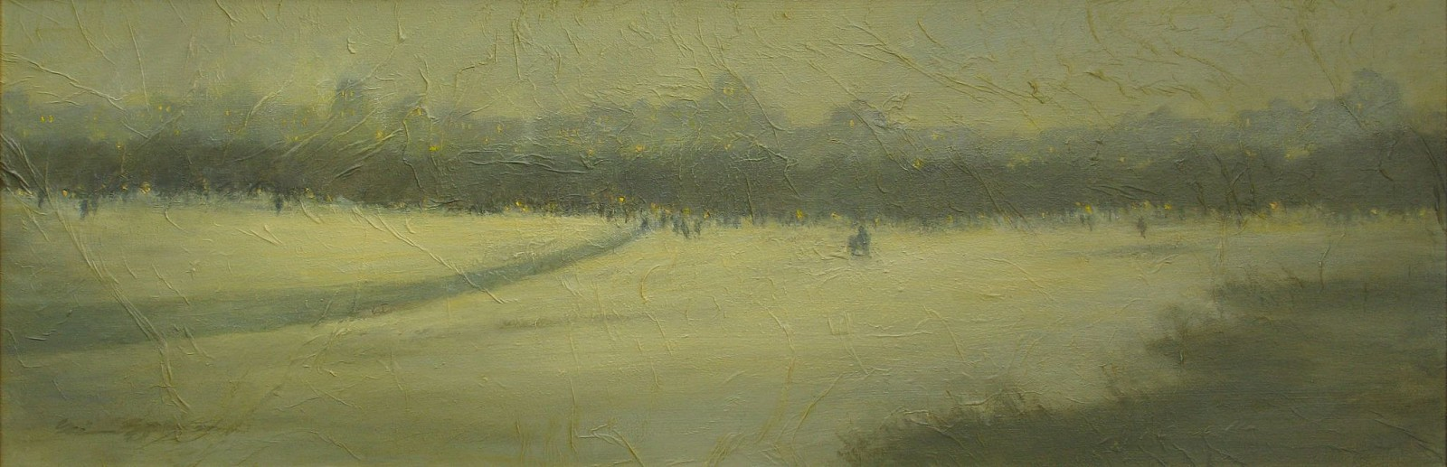 Nina Maguire, Central Park Winter, 2011 2011, acrylic on board with seikishu rice paper