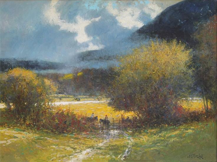 John Terelak, Valley Light 2015, oil on canvas