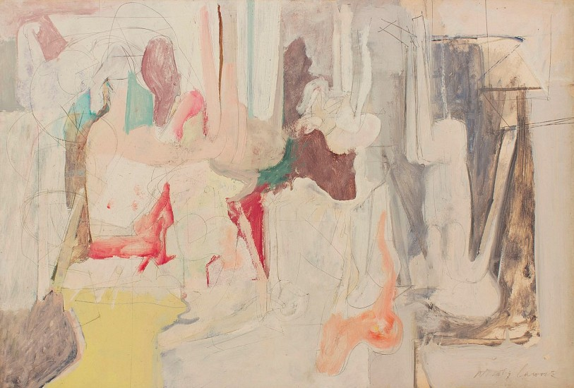 Nicholas Carone, Untitled (W-1383-S) 1966, oil and pencil on board
