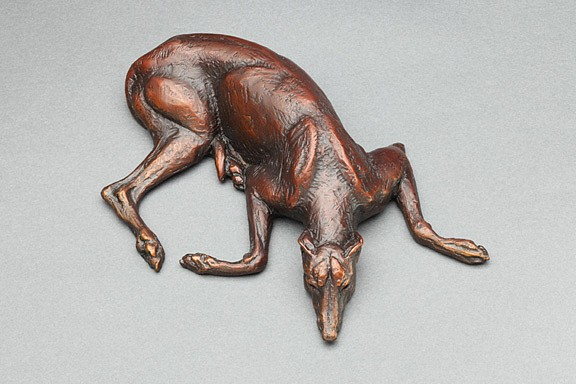 Louise Peterson, Flat Out, Ed. 5/99 2010, bronze