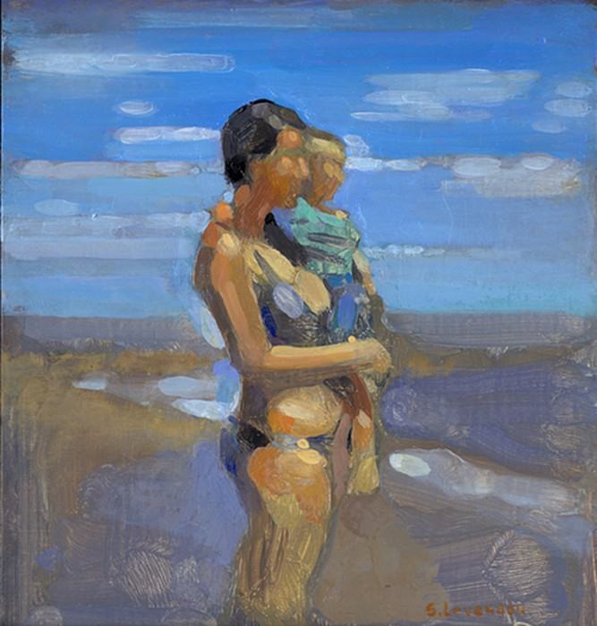 Simon Levenson ,   Mother and Child  ,  2013     oil on canvas ,  7 x 9 in. (17.8 x 22.9 cm)     SL140103