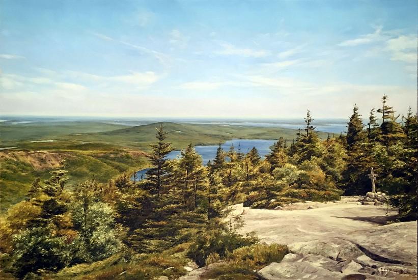 Lori Zummo, Acadia View 2016, oil on panel