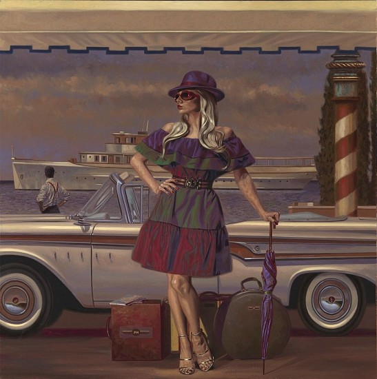 Peregrine Heathcote, La Dolce Vita 2017, oil on canvas