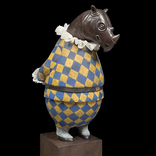 Bjorn Skaarup, Rhino Harlequin 2013, bronze
