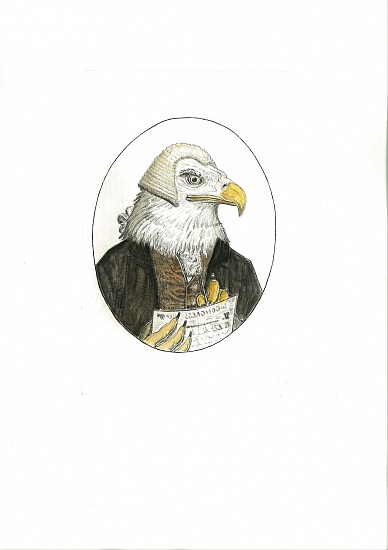 Bjorn Skaarup, Bald Eagle, USA 2016, Color engraved etching