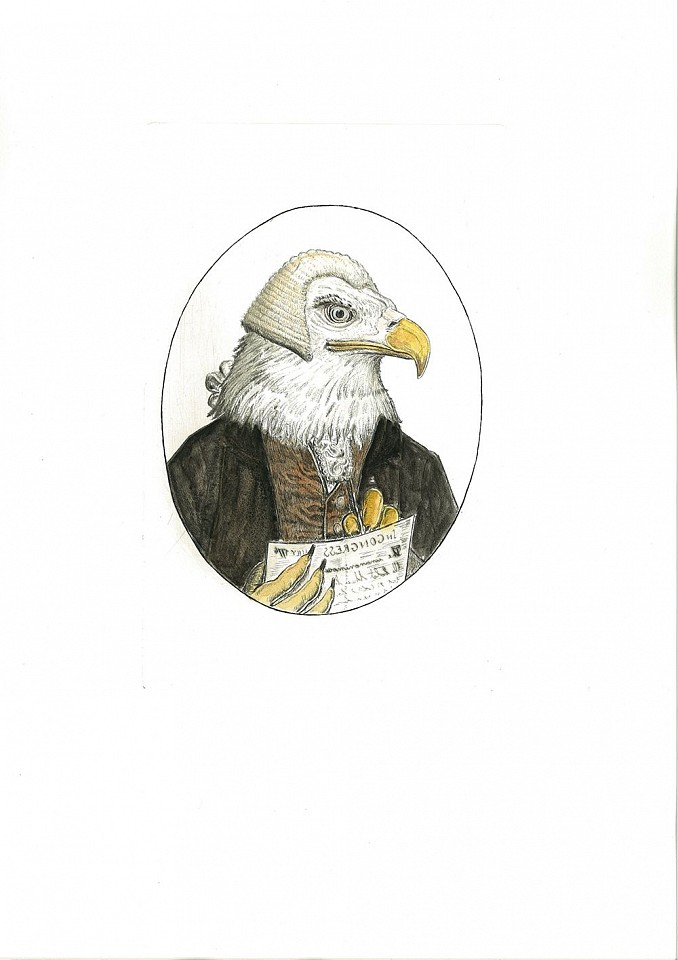 Bjorn Skaarup ,   Bald Eagle, USA, Edition of 50  ,  2016     Color engraved etching ,  12 x 16 in. (30.5 x 40.6 cm)     BS170261