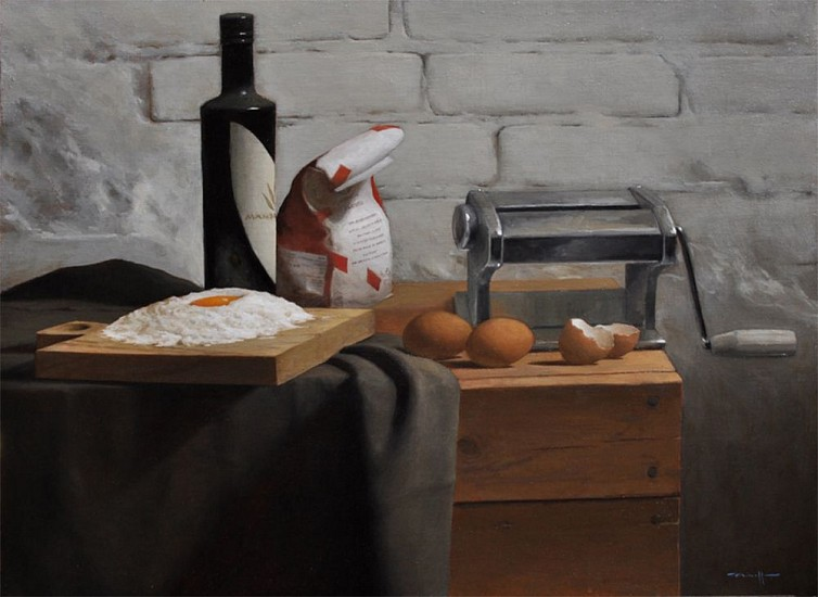 Edward Minoff, Pasta Fresca 2017, oil on linen