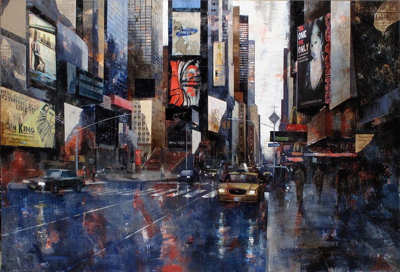 Marti Bofarull, 16711 Times Square mixed media on canvas