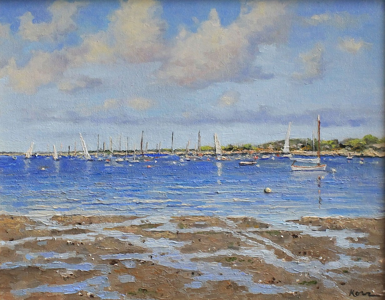 Marla Korr ,   Low Tide at Washington St.  ,  2017     oil on linen ,  11 x 14 in. (27.9 x 35.6 cm)