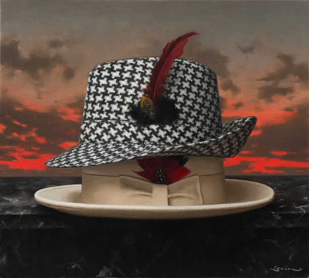 Steven J Levin, Houndstooth 2014, oil on canvas