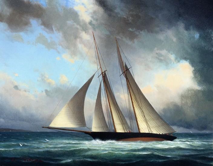 William Storck, The Schooner 2017, oil on canvas