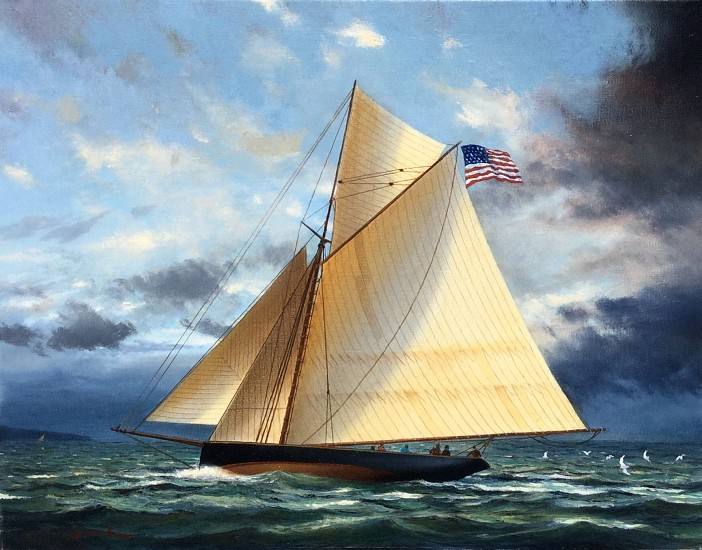 William Storck, Yachting Day 2017, oil on canvas