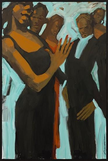 Robert Freeman, Greeters 2016, oil on canvas