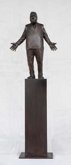 Jim Rennert, Bull, Edition of 9 2012, bronze and steel