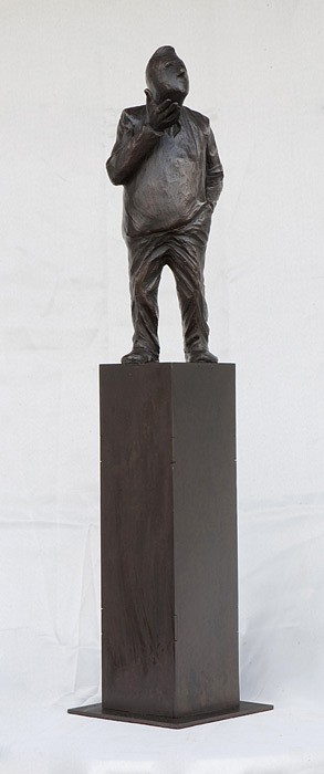 Jim Rennert ,   Bear, Edition of 9  ,  2012     bronze and steel ,  26 1/2 x 6 x 6 in. (67.3 x 15.2 x 15.2 cm)     JR121204